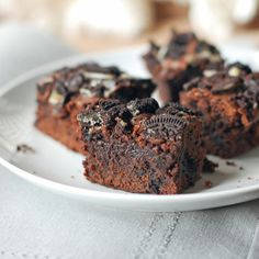 Fudgy Oreo Brownies. Man, what I would give for one of these right now.