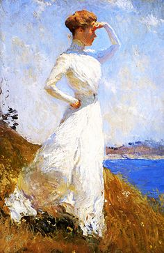 Sunlight -   Frank Weston Benson  was an American artist from Salem, Massachusetts known for his Realistic portraits, American Impressionist paintings, watercolors and etchings. He began his career painting portraits of distinguished families and murals for the Library of Congress.