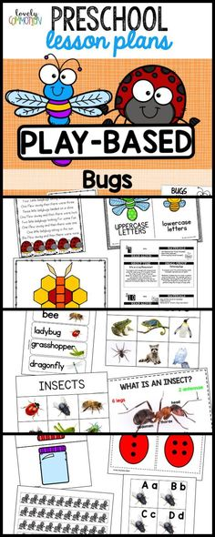 A preschool play-based lesson plan with loads of activities and center ideas to bring your insect theme to life! Kindergarten Lesson Plans, Preschool Lesson Plans, Insect Activities, Preschool Activities, Preschool Writing, Preschool Alphabet, Educational Activities, The Plan, How To Plan