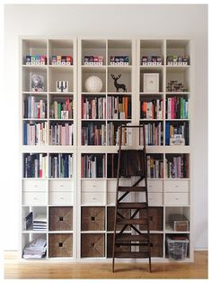 The IKEA Expedit (lately reborn as the Kallax) has, like a lot of classics, an incredibly simple design. And like a lot of IKEA pieces, it lends itself to all kinds of different uses—some of which you may have not even thought of. Here are 15 different wa Expedit Regal, Ikea Expedit, Ikea Kallax Bookshelf, Ikea Hack, Apartment Living, Apartment Therapy, Home Organization, Bookshelves, Shelving