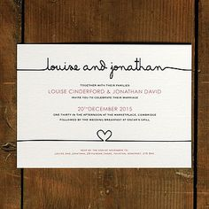 scribble wedding invitation stationery by feel good wedding invitations | notonthehighstreet.com