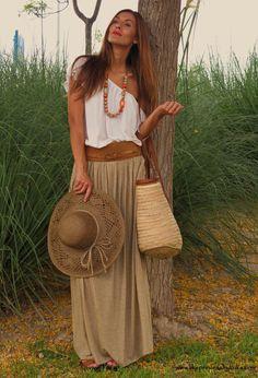 #Boho #Style - AMITIE T-Shirt, Zara  Skirt and Sfera Belt, #fashion