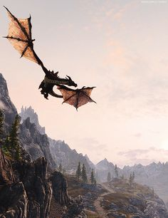 Skyrim problems, when you see a dragon, but the music doesn't change, until the dragon dosen't see you, but lands on top of you. Skyrim Dragon, Dragons, Elder Scrolls Skyrim, Throne Of Glass, Dragon Art, How To Train Your Dragon, Story Inspiration, Mythical Creatures, Game Art