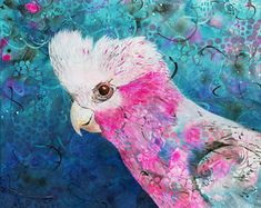 Items similar to The Galah Watercolor Art Print, Rose Breasted Cockatoo with Flowers, Art Print from my Original Watercolor Painting, pink and grey, 5 x 7 on Etsy Australian Icons, Australian Birds, Parrot Image, Bird Silhouette Tattoos, Red Bird Tattoos, Love Birds Painting, Bird Graphic, Bird Drawings, Cockatoo