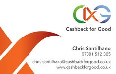 Cashback for Good logo development and design, business card, stationery design and identity guidelines