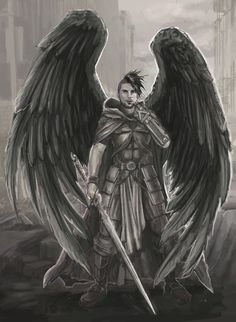 Warrior angel in post apocalyptic ruins by BrentWoodside.deviantart.com on @DeviantArt