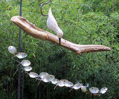Sand Piper & spoon fish wind chimes, Number 34 via Etsy