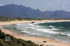Beach and mountains at Fort Dauphin, Madagascar