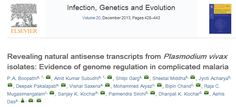 Research article from BITS Pilani and co-authored by Mohammed Aiyaz, Bipin Chand and Raja C Mugasimangalam from Genotypic Technology published in the recent issue of Infection, Genetics and Evolution. Microarray experiments for this work was carried out at Genotypic Technology. This is the first report on Natural Antisense Transcripts in Plasmodium vivax from patient samples. Congratulations to authors !!