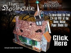 'The Skoolhouse' Paper model @ Haunted Dimensions