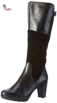 25515, Bottes Hautes Femme - Noir (Black Comb 098), 36 EUTamaris