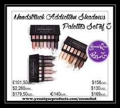 moodstruck addiction shadow palettes set of 3