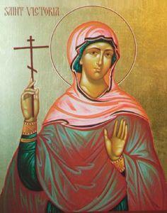 Icon of St. Victoria, Martyr (Victoria of Rome or Victoria of Córdova)
