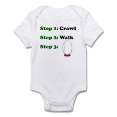 This cute Crawl Walk Rugby design is a great gift for any baby destined to grow up to play rugby.