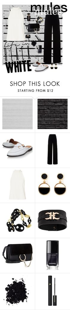 """Untitled #52"" by sagepayne ❤ liked on Polyvore featuring Zoffany, T By Alexander Wang, A.L.C., Warehouse, Gucci, Salvatore Ferragamo, Chloé, Chanel, Lancôme and Victoria's Secret"