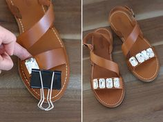 These Marni inspired jeweled sandals were a no brainer. I mean, does it get any easier than gluing gemstones onto a pair of shoes?! But since I was making a pair for myself last weekend, using this season's most comfortable and affordable sandal and high quality crystals with some extra sparkle,
