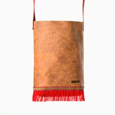 Bolso Old Indian Brown & Red