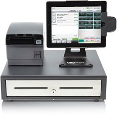 NCR SILVER Point-of-Sale hardware bundle.  iPad sold seperately and NCR subscription required for full POS use.