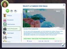 marlyn sims | The Sims 4 Scenic Photographer Career! So, you...