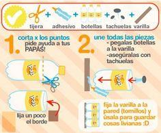 reciclar botellas plasticas!
