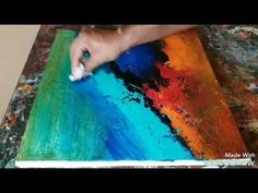 Texturing canvas with gesso # Acrylic abstract painting # Demonstration # 01/02/2017 - YouTube