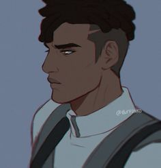 hey i love himdoodled this screencap - Character Design Club 2019 Guy Drawing, Character Drawing, Character Concept, Concept Art, Black Anime Characters, Fantasy Characters, Catty Noir, Boy Art, Character Design References