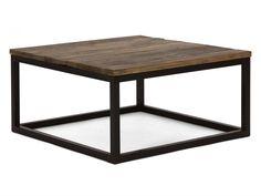 Couchtisch 80x80 Tisch massiv Holz rustikal Ulme Stahl Möbel NEU 19553 | eBay