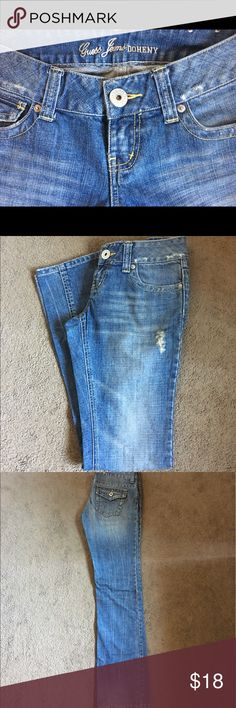 Brand New Guess Jeans Doheny Blue Denim 26 CUTE!! Brand New w/out Tags. Never Worn.  Guess Jeans - Style Doheny Blue Denim.  Ladies / Women's Size 26.  Super cute and trendy Boot Cut!! Flawless. Cost $75.  Please check out the other items in my closet. BUNDLE & SAVE!! I offer a discount when items are bundled & you only pay shipping one time!!  Thank you and happy Poshing. Guess Jeans Boot Cut
