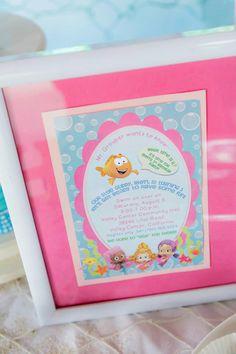 Bubble Guppies Under The Sea Party with Such Cute Ideas via Kara's Party Ideas | KarasPartyIdeas.com #Ocean #Beach #Party #Ideas #Supplies #bubbleguppies #printables