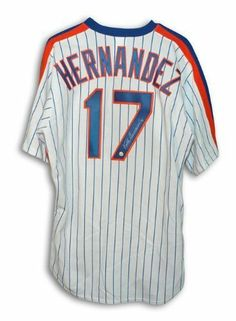 1413ca61f Keith Hernandez Autographed Hand Signed New York Mets White Pinstripe  Majestic Jersey by Hall of