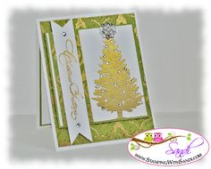 Special Season set.  Gold embossing powder used with a heat tool.