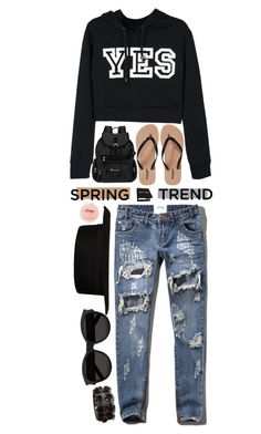 """Yes, MAN! - Spring Trend"" by nonniekiss ❤ liked on Polyvore featuring Old Navy, Sherpani, Abercrombie & Fitch, River Island, Yves Saint Laurent and H&M"