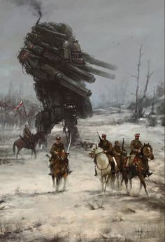 '1920 - Warlord' second concpet art/illustration from my personal historical/fiction project 1920+,it was a very early stage, still I was looking for style & atmosphere, especially when it comes to mech design :]the mech is based on the amazing work of ProgV:http://progv.deviantart.com/art/Just-a-mech-389177733?offset=420#comments