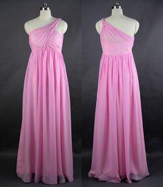 Peach Bridesmaid Dress Sheath One Shoulder by harsuccthing on Etsy