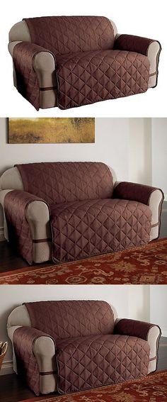Slipcovers 175754: Ultimate Furniture Protector Pet Slip Cover Sofa Loveseat Microfiber Brown -> BUY IT NOW ONLY: $32.76 on eBay!