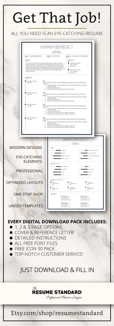 resume templates cv templates resume design packages get the job you want - Eye Catching Resume Templates