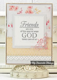 Words of Inspiration, Four Corners Die-namics, Dainty Lace Border Die-namics, Pierced Square STAX Die-namics - Mona Pendleton #mftstamps