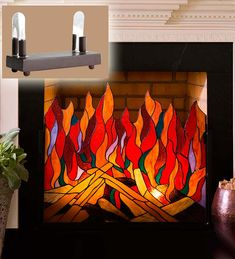 Image result for stained glass fireplace screen patterns | Stained ...