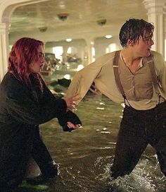 Kate Winslet as Rose and Leonardo DiCaprio as Jack in Titanic