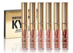 Gold Kylie Jenner Cosmetics Matte Lipstick Mini Leo Kit Birthday Limited Edition #jenner #kylie