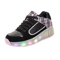 unisex schuhe mit rollen skateboard heelys kinder m dchen jungen led leuchtet sohle leuchtend. Black Bedroom Furniture Sets. Home Design Ideas