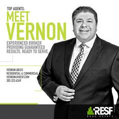 Meet Top Broker Vernon Ubico. Experienced Broker Providing Guaranteed Results, Ready To Serve! Learn more about him: www.resf.com/vernon-ubico