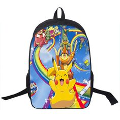 b19fc4b8be Anime Pokemon Daily Backpack Boys Girls School Bags Pikachu Prints Backpack  For Teenagers Kids Gift Backpacks Schoolbags Mochila
