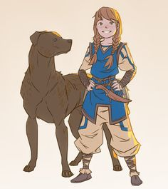 f Halfling Ranger Dog lwlvl ArtStation - Sketches Magnus Norén Female Character Design, Character Creation, Character Design References, Character Concept, Character Art, Concept Art, Character Ideas, Dungeons And Dragons Characters, D D Characters