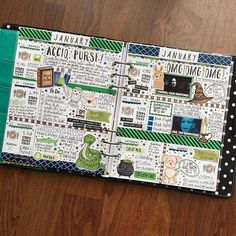 Harry Potter themed planner page by Michelle aka QuirkyHeart
