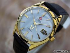 PRICE GUIDE JEWELRY & WATCHES: Rado Golden Horse Extra Large 37mm Rare Vintage Au...