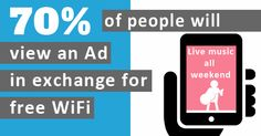 Social WiFi allows brands to advertise to their target audience while they are in-store Marketing Opportunities, Customer Engagement, Advertising, Ads, Target Audience, Free Wifi, Live Music, Store, Business