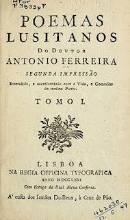 Poemas lusitanos do doutor Antonio Ferreira (1771)