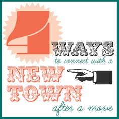 #Moving to a new place can be intimidating. Check out these #tips on how to connect with your new #hometown!
