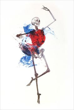 New Alex Cherry Limited Edition Screen Print - 'Lose Yourself To Dance' Homemade Facial Mask, Skeleton Art, Skeleton Dance, Skeleton Tattoos, Print Release, Medical Art, Anatomy Art, Med School, Skull And Bones